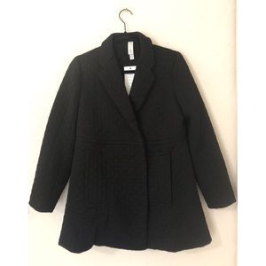 NWT Marla Wynn's Black Quilted Jacket Extra Small